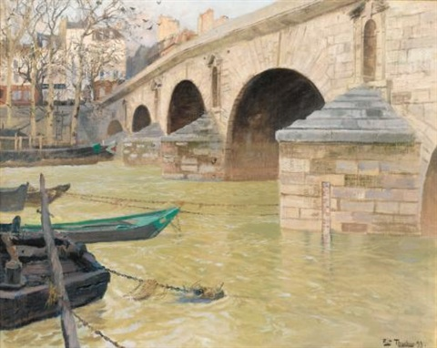 the pont marie paris by frits thaulow