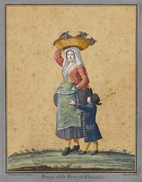 donna della torre di francolisi (+ uomo e donna dell affraola; pair) by alessandro d' anna