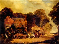 the dorking and london royal mail leaving the marquess of granbury by henry w. allfrey