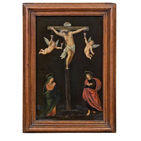 christus am kreuz mit maria und johannes by anonymous 18