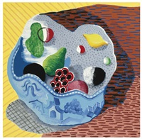 fruit in a chinese bowl by david hockney