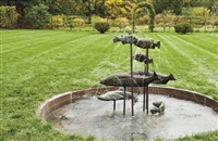 fish fountain by bruce nauman
