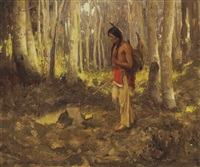 lone hunter by eanger irving couse