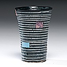 striped tumbler by jun kaneko