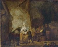 jeune femme nourissant son enfant by marc antoine bilcoq