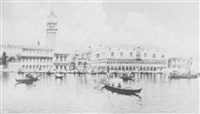 the piazzetta fron the lagoon, venice; and         the grand canal, venice (2) by e. boni