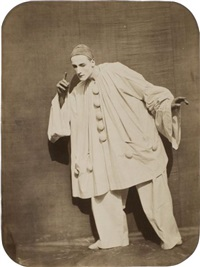 pierrot écoutant (le mime jean-charles deburau) by nadar and adrien tournachon