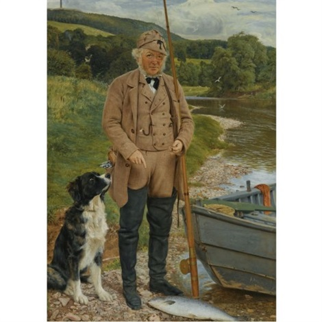 robert kerss gamekeeper and fisherman at mounteviot by james archer