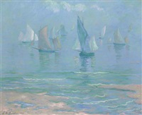 sailboats at dieppe by theodore earl butler
