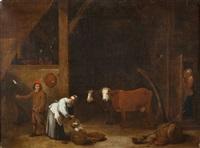 intérieur de ferme by flemish school (17)