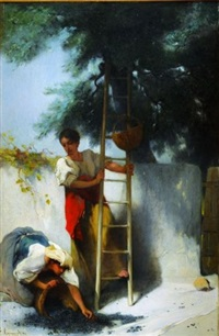 la cueillette des olives en provence by francois maurice reynaud