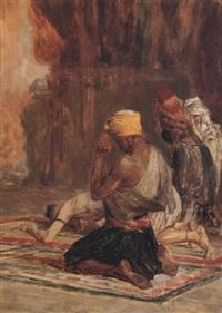 prière dans la mosquée by charles bargue