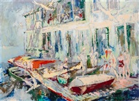 belmont harbor by leroy neiman