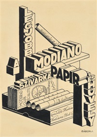 modiano advertisement-plan by jenö gábor