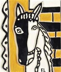 le cheval sur fond jaune by fernand léger
