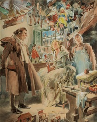 the toy shop by everett shinn