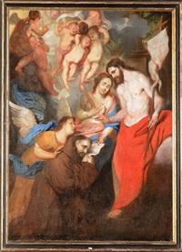 le christ remettant une indulgence by josé (jusepe) leonardo de chavier
