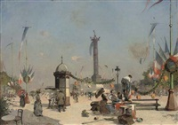 place de la bastille, paris by l. armenlene