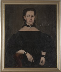 portrait of rhoda catherine cowles of north canaan, connecticut by erastus salisbury field