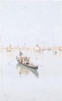 venezia, barca in laguna by giuseppe vizzotto alberti
