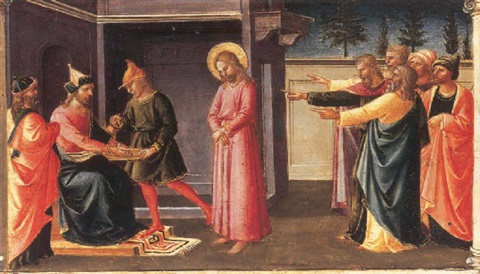 christ before pontius pilate by domenico di michelino