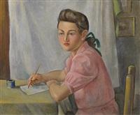 a schoolgirl by otakar (othon) coubine