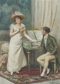 a flirtatious moment by mario spinetti