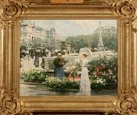marché aux fleurs animé à paris by victor guerrier