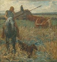 cavalier à la lance by fernand cormon
