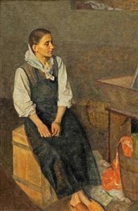 sedící postava - pradlena by josef multrus