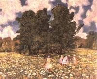 parmi les fleurs by vladimir victorovitch petrov