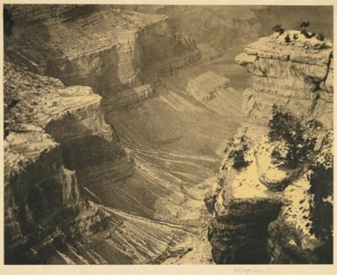 snow in the canyon by alvin langdon coburn