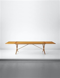 large extendable dining table, model no. at304 by hans j. wegner