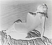 solarised nude study, 1937 by andreas feininger
