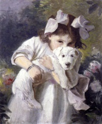portrait of miss kitty wooliscroft, the artist's niece by robert sauber
