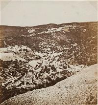 séchage du tabac et vue de ville en montagne, cuba (2 works) by charles (carlos) deforest fredricks