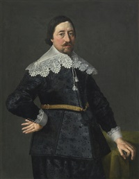 portrait of a gentleman, possibly nicholas edgar, eldest son of thomas edgar of glenham magna by thomas de keyser
