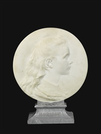 profile relief of monique fouques-duparc by agathon léonard