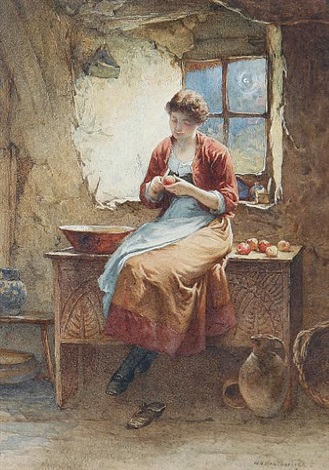 peeling apples by william harris weatherhead