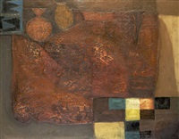 copper-coloured abstract by arthur armstrong
