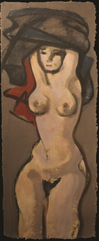 female nude undressing by benedicto cabrera