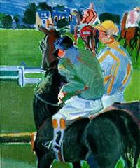 jockeys à la barrière by jean mablord