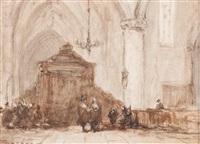 church interior by johannes bosboom