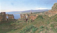 the amphitheater at taormina, sicily by otto geleng