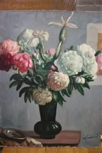 fleurs dans un vase by charles senard