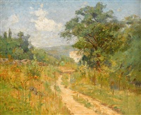 landscape with house by theodore clement steele