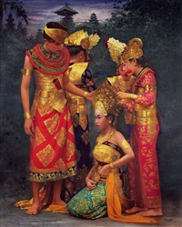 peliatan dancers, ubud by rearngsak boonyavanishkul