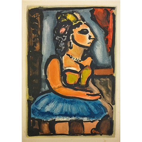 père ubu songster from reincarnations du père ubu madame louison from cirque de létoile filante 2 works by georges rouault
