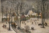 paysage d'hiver by jean raffy le persan