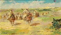 carrera de caballos árabes by emilio alvarez díaz